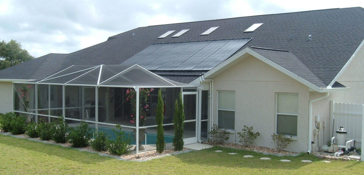 Solar Roof Panels on Single-Family Home